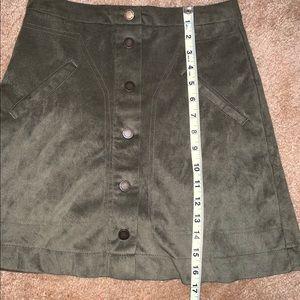 Jolt Skirts - Green Suede Skirt- Juniors Size 1